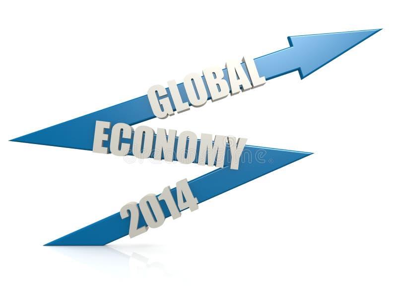 世界经济2014年箭头 向量例证