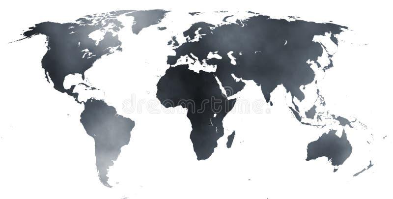 世界02的地图 库存例证