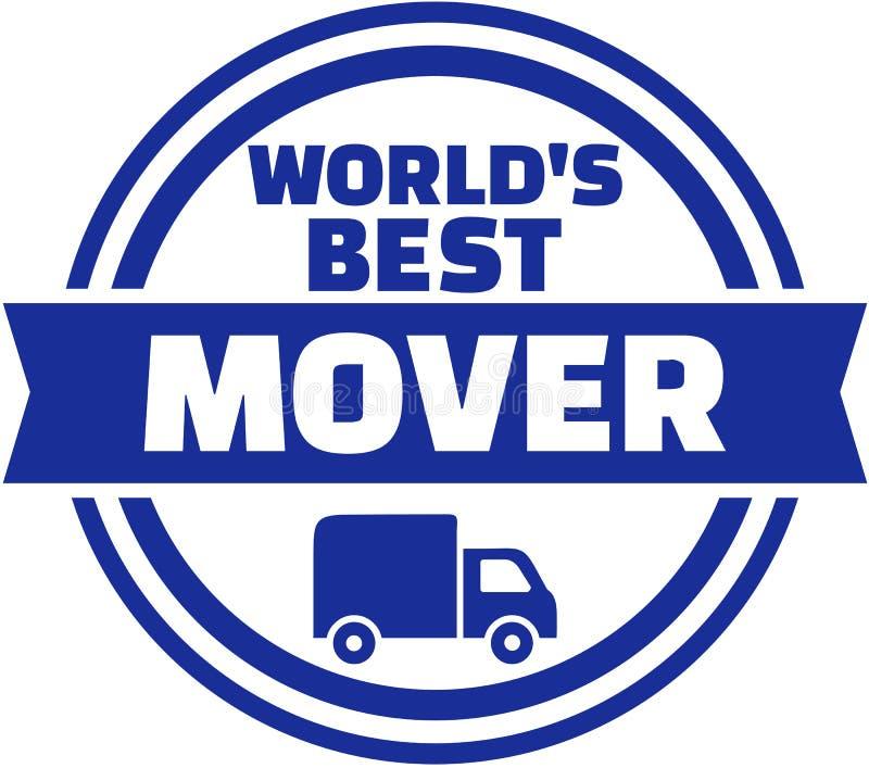 世界` s最佳的搬家工人按钮 库存例证