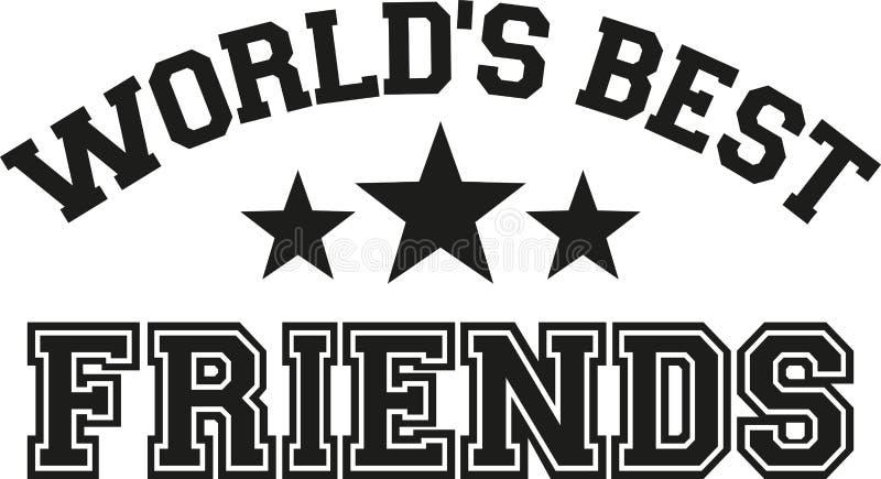 世界` s最好的朋友在上写字 库存例证