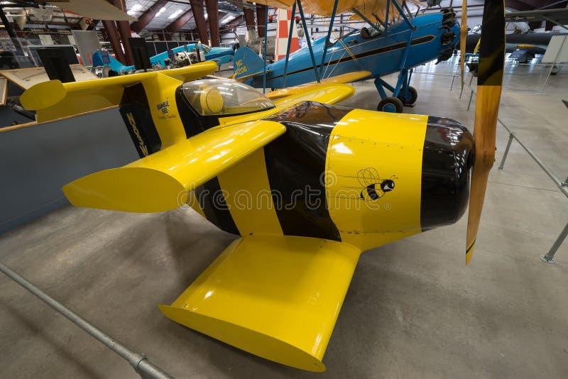 世界` s最小的飞机 图库摄影
