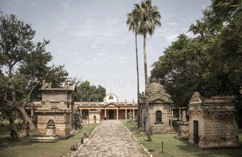 19世纪公墓在瓜达拉哈拉 库存图片