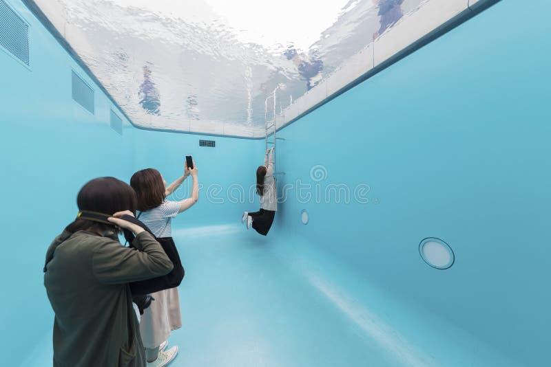 21世纪博物馆在今池,日本 免版税库存照片
