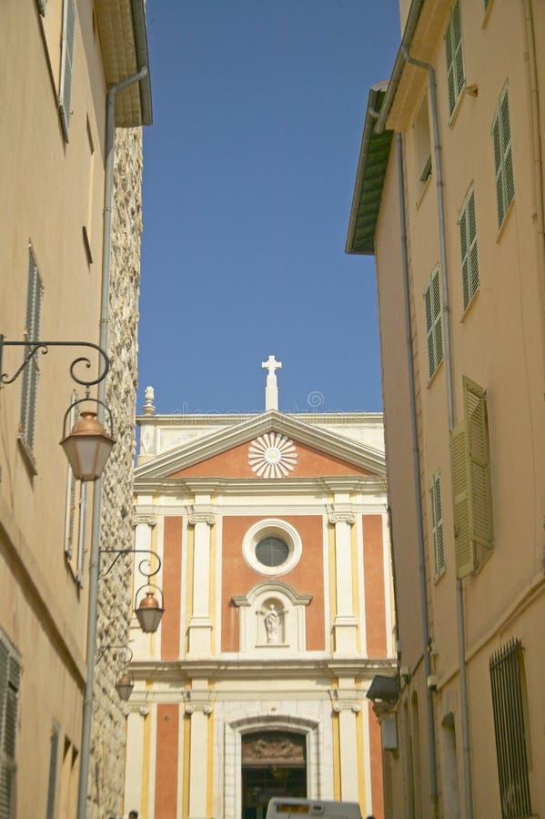 17世纪大教堂,安地比斯,法国 图库摄影