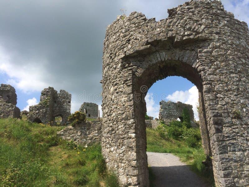 世纪年纪城堡ruines 免版税图库摄影