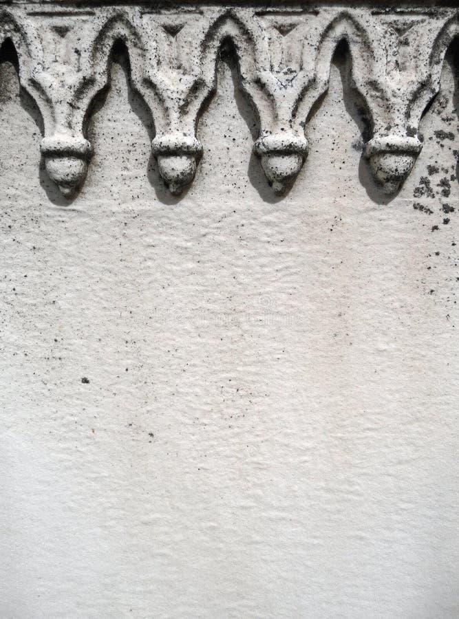 世纪详细资料墓碑第十九空间白色 库存照片