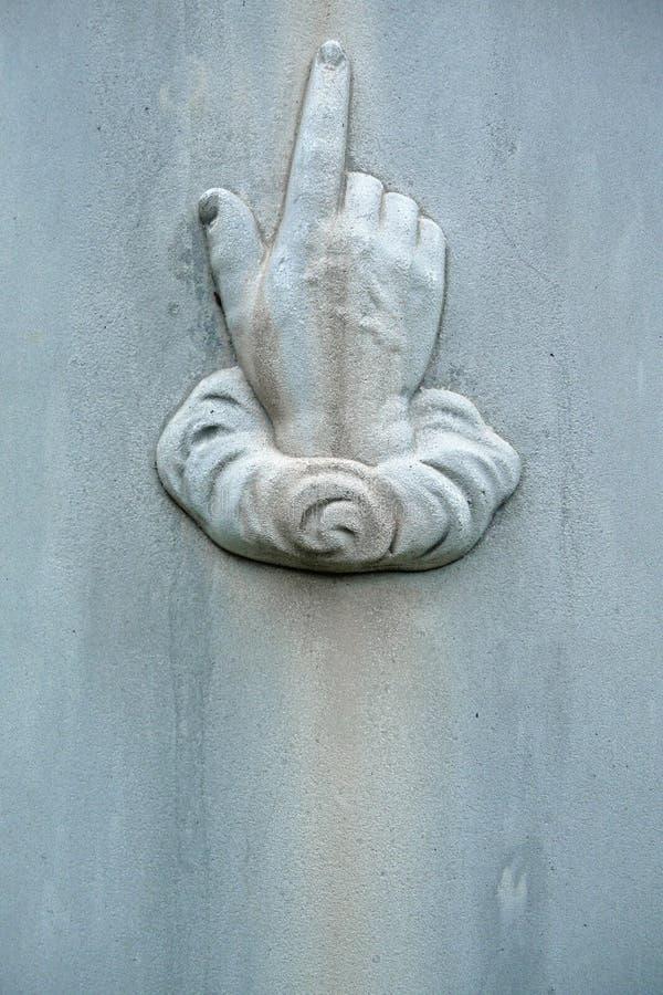 世纪详细资料现有量第十九指向的墓&# 图库摄影