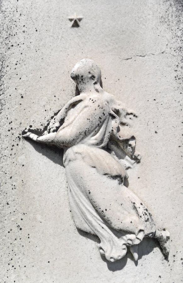 世纪详细资料第十九星形墓碑妇女 免版税库存照片