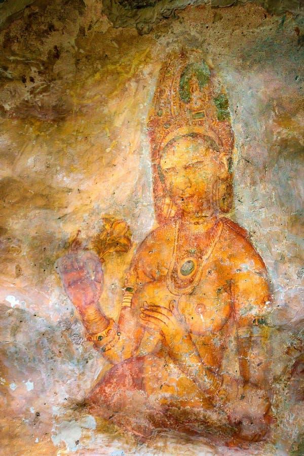 5世纪锡吉里耶壁画  库存照片