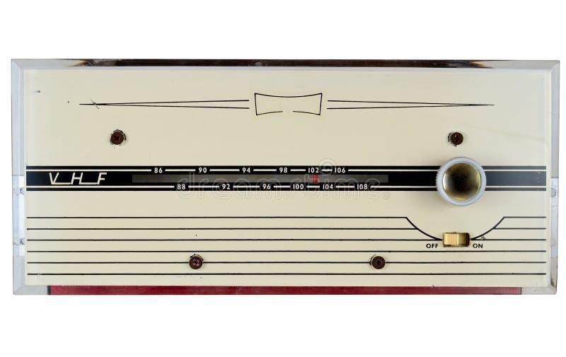 20世纪60年代VHF FM无线电接收机 库存照片