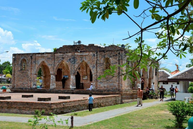 18世纪Krue Se清真寺北大年泰国的遗骸 库存照片