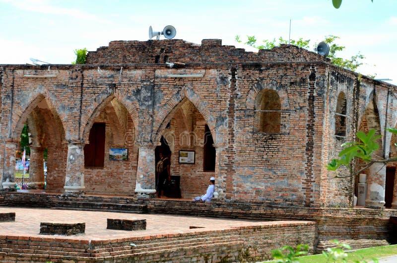 18世纪Krue Se清真寺北大年泰国的遗骸 免版税图库摄影