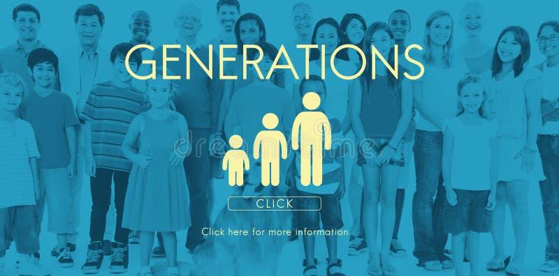 世代家庭统一性关系概念 库存照片