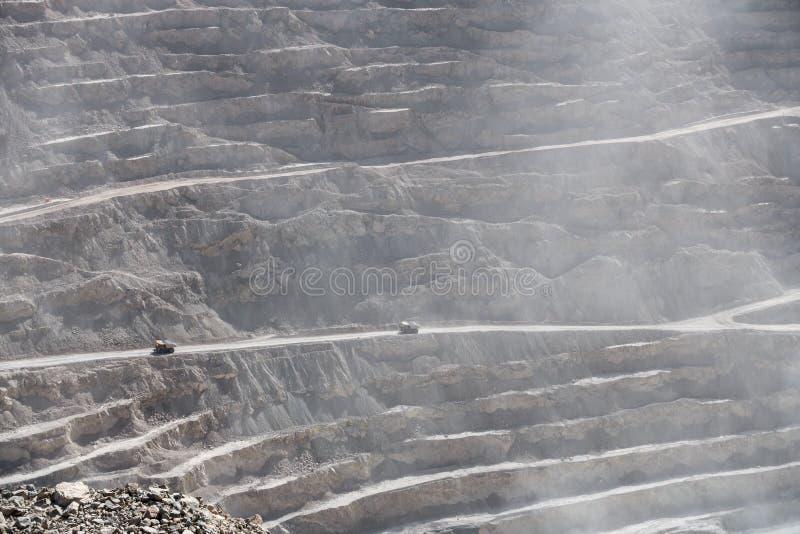 丘基卡马塔铜矿,智利 免版税库存图片