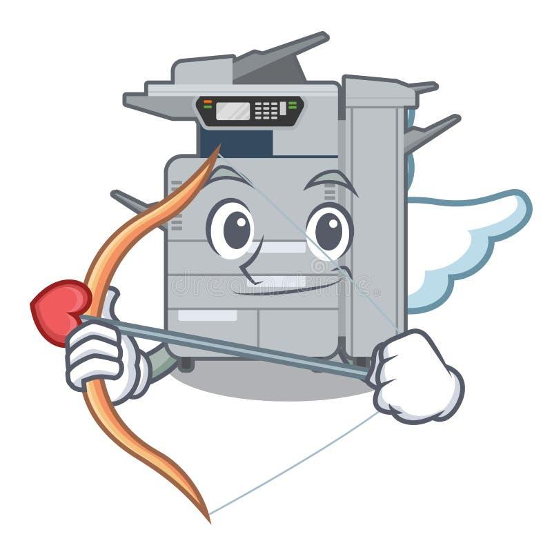 丘比特在动画片形状的影印机机器 皇族释放例证