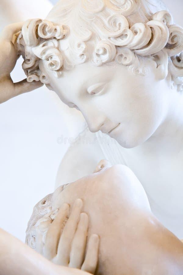 丘比特复兴的亲吻灵魂 库存照片