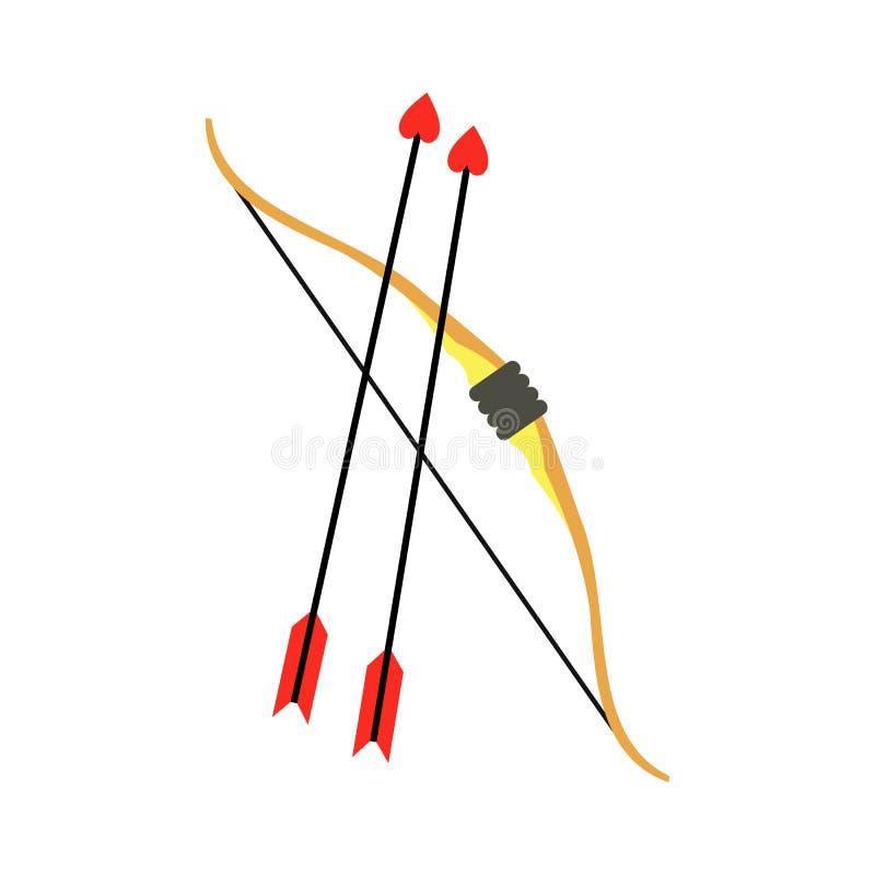丘比特弓箭象 向量例证