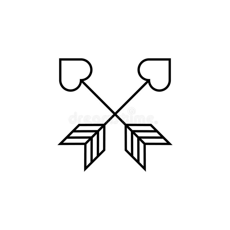 丘比特象箭头  LGBT例证的元素 优质质量图形设计象 标志和标志汇集象网的 皇族释放例证
