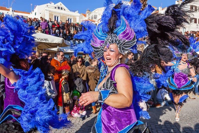 丙氨酸部分的桑巴舞蹈家,在巴西Carnaval 免版税库存图片