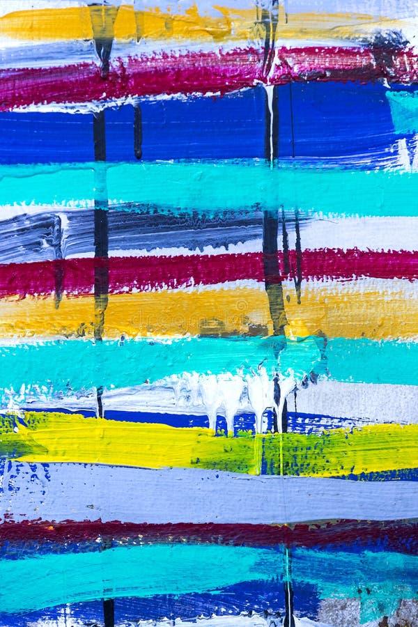 丙烯酸漆色的条纹背景  库存照片