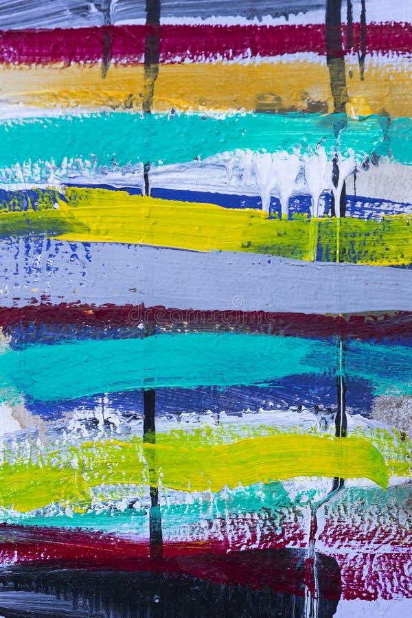 丙烯酸漆色的条纹背景  库存图片