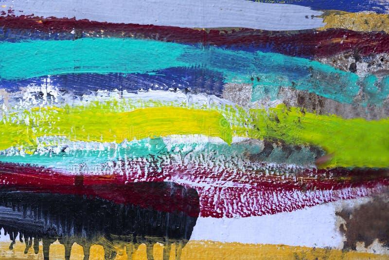 丙烯酸漆色的条纹背景  免版税图库摄影
