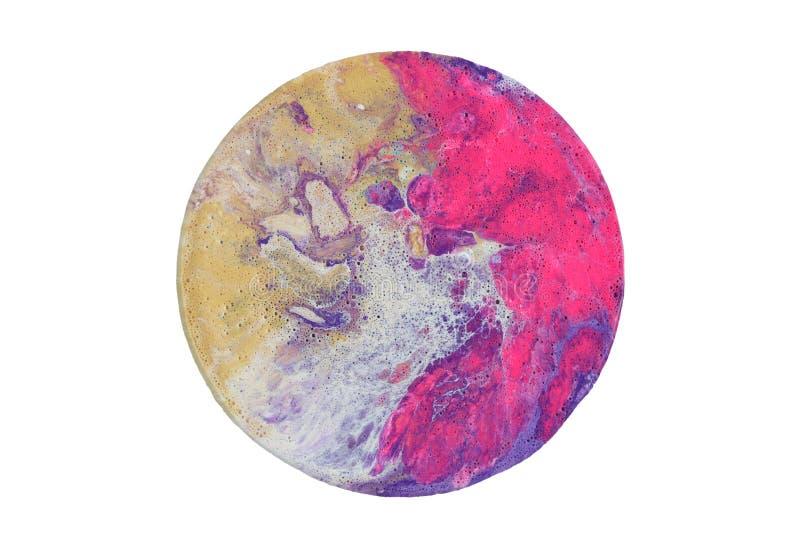 丙烯酸酯的圈子污点 抽象背景 背景可能使使用的纹理有大理石花纹 免版税库存照片