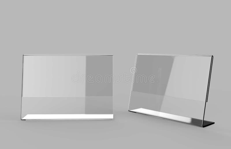 丙烯酸酯的海报菜单持有人有机玻璃传单陈列台A3 A4 A5 A6 A7 A8 & A9 3d例证回报 向量例证