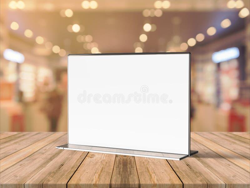 丙烯酸酯的海报菜单持有人有机玻璃传单陈列台A3 A4 A5 A6 A7 A8 & A9 3d例证回报 库存例证
