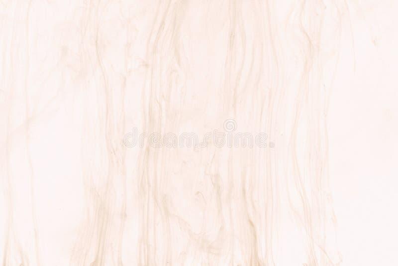 丙烯酸酯的颜色在作为木纹理的水中 抽象背景 免版税库存照片