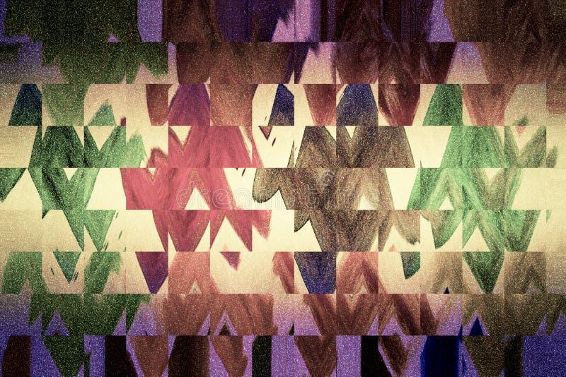 丙烯酸酯的颜色飞溅的背景 对比数字印刷品纸 厚实的油漆表面 皇族释放例证