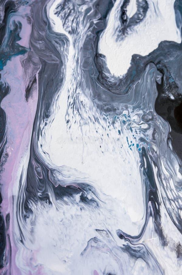 丙烯酸酯,油漆,抽象 绘画的特写镜头 五颜六色的抽象绘画背景 高织地不很细油漆 优质 库存照片