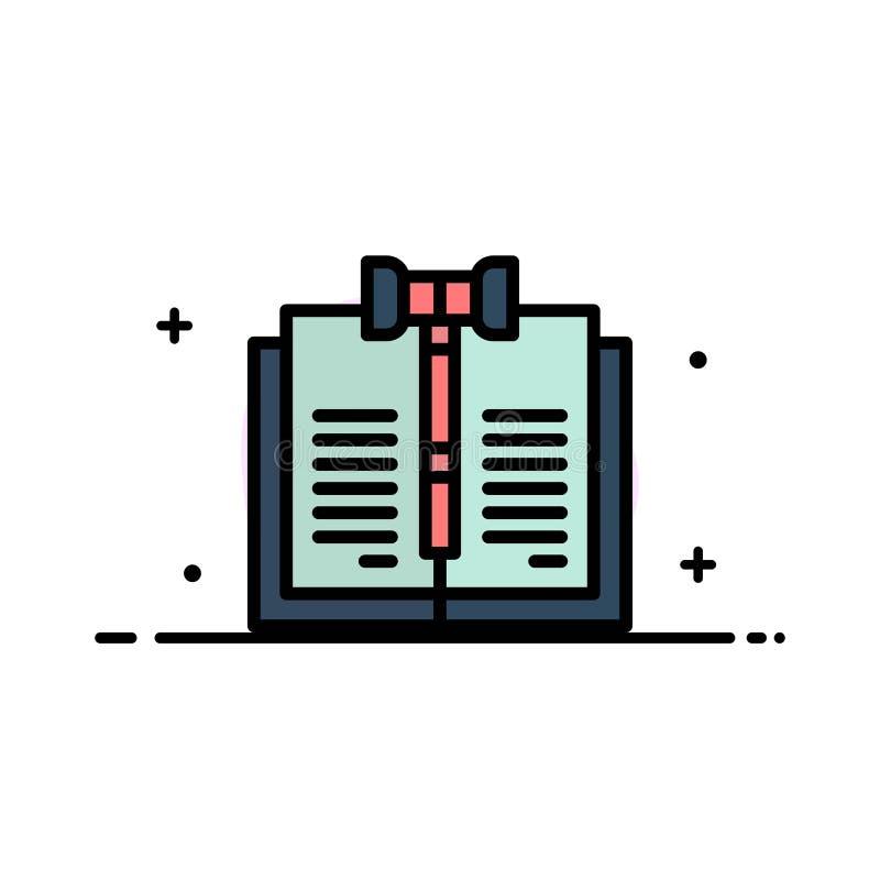 业务、版权、数字、法律、记录业务平面线填充图标矢量横幅模板 皇族释放例证