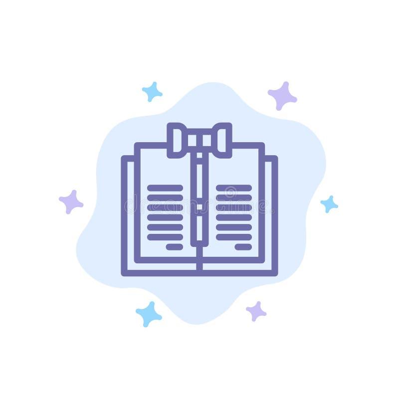 业务、版权、数字、法律、记录蓝色图标在抽象云背景下 向量例证