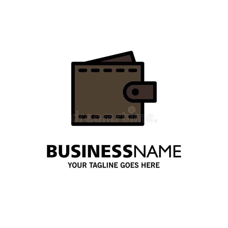 业务、财务、界面、用户、钱包业务徽标模板 平整颜色 皇族释放例证