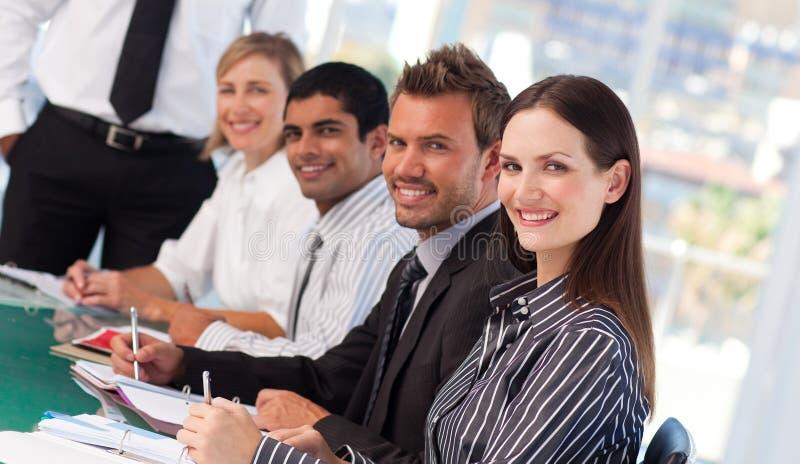 业务会议人年轻人 免版税库存图片