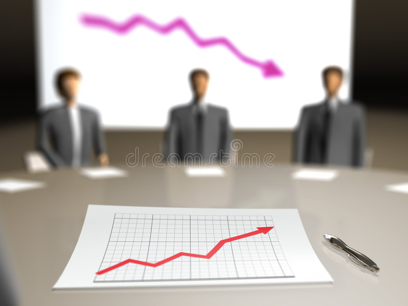 业务会议人计划 免版税图库摄影
