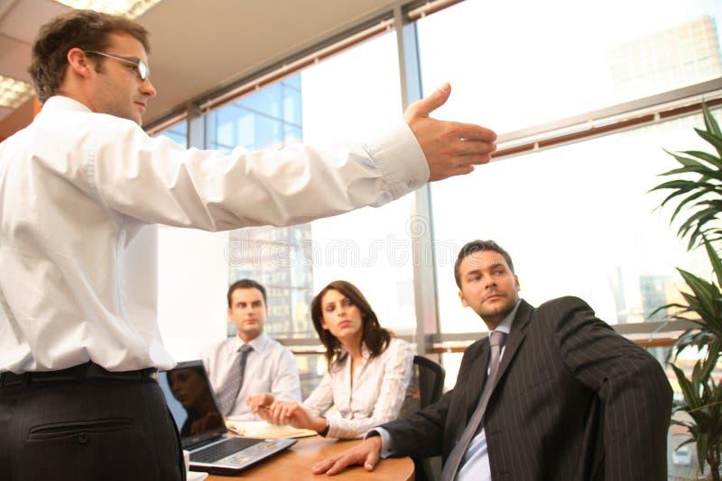 业务会议介绍 免版税库存照片