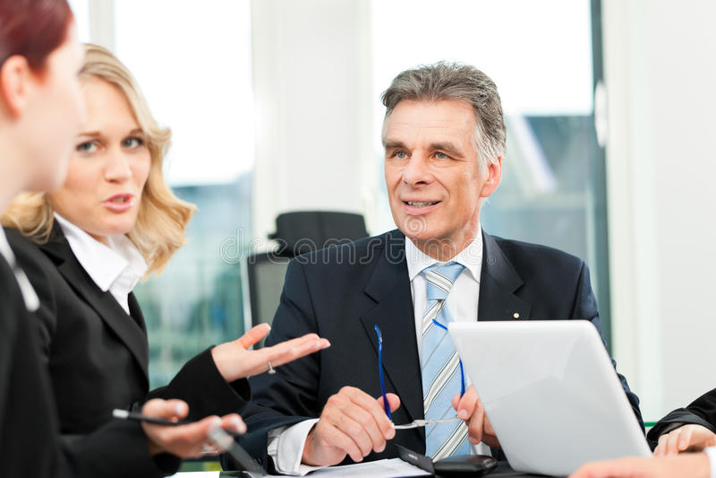 业务会议办公室人小组 图库摄影