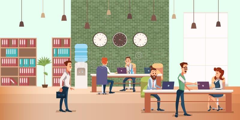 业务会议在创造性的办公室 r 库存例证