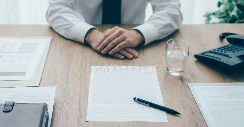 业务会议在办公室 免版税库存照片