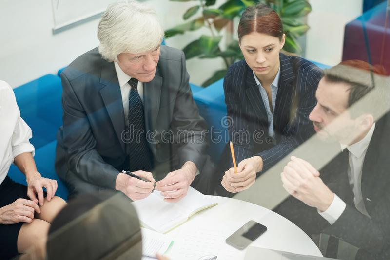 业务会议小组 免版税库存照片