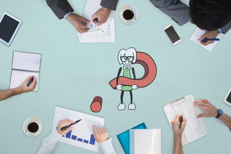 业务会议的综合图象 免版税库存图片