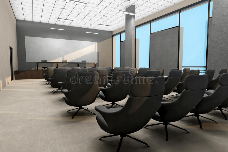 业务会议空间内部 皇族释放例证