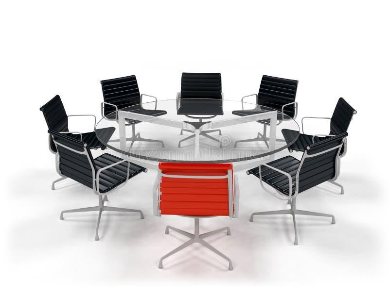 业务会议表 向量例证