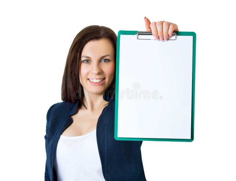 业务单据办公室妇女 库存图片