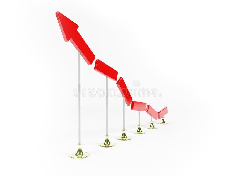 业务发展增长 库存例证