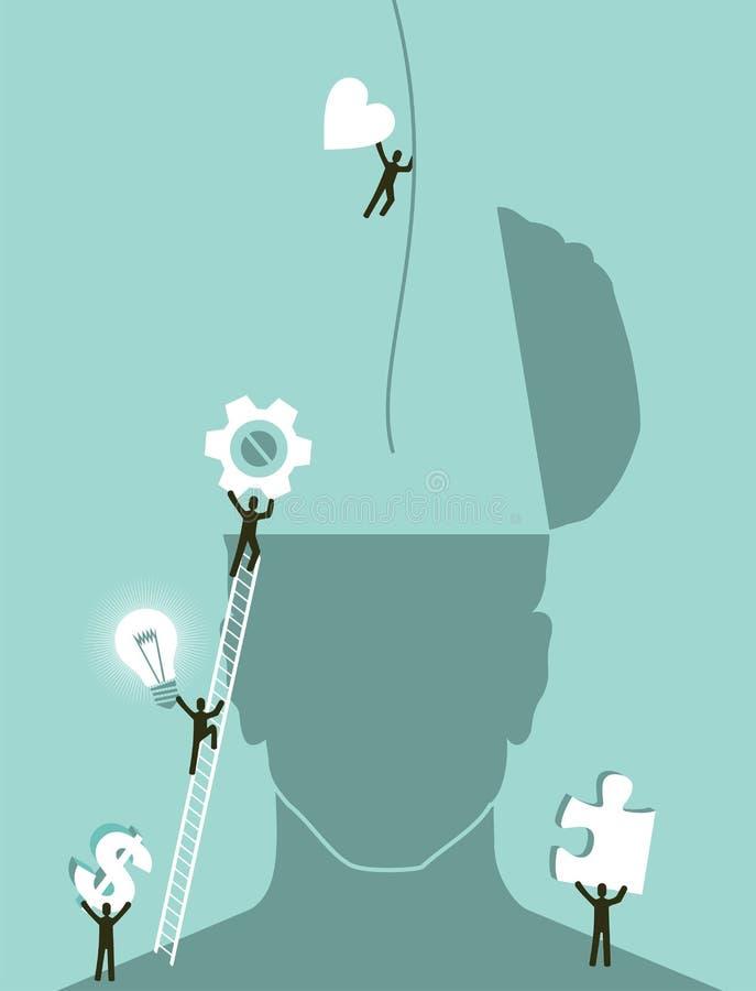 业务发展激发灵感 向量例证