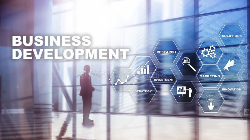 业务发展起始的成长统计 财政计划战略发展过程图表概念 库存例证