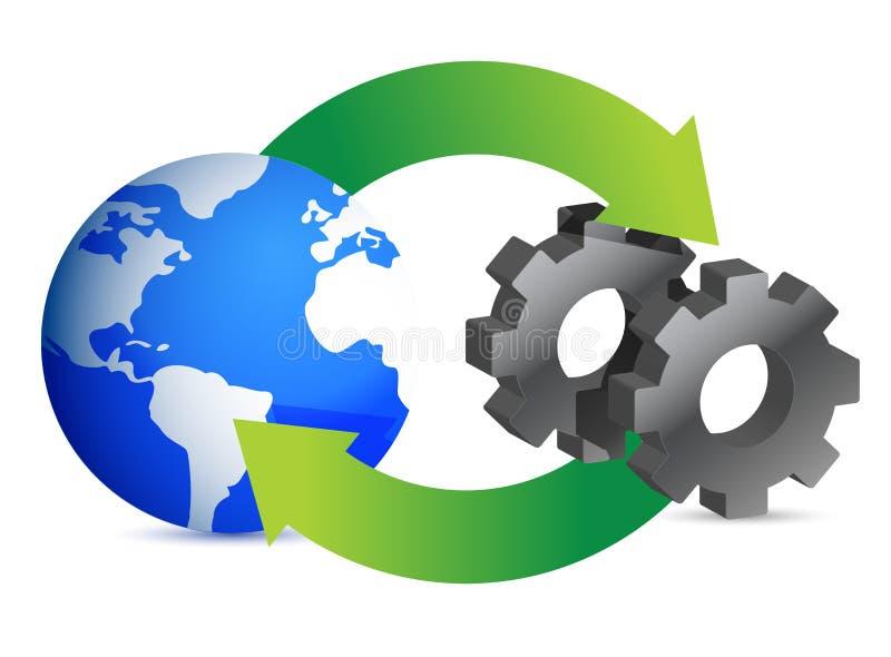 业务流程绘制 库存例证
